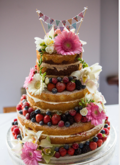 Naked Sponge Wedding Cakes